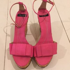 Kate Spade pink bow wedges